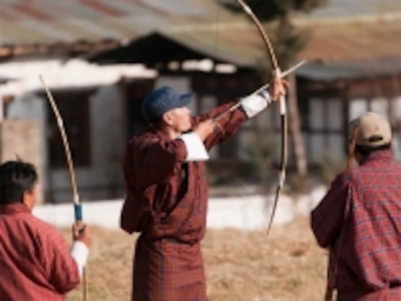 アーチェリーはブータンの国技。