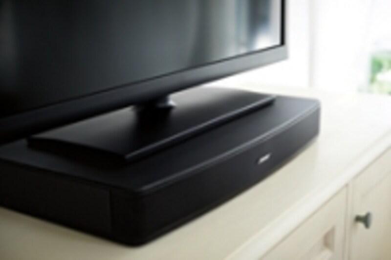 テレビの台座として設置するので、置き場所に困ることもないだろう