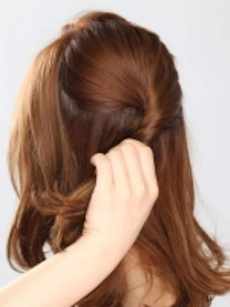 耳前の髪は残しておく