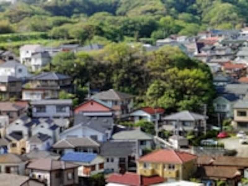 丘陵地の住宅