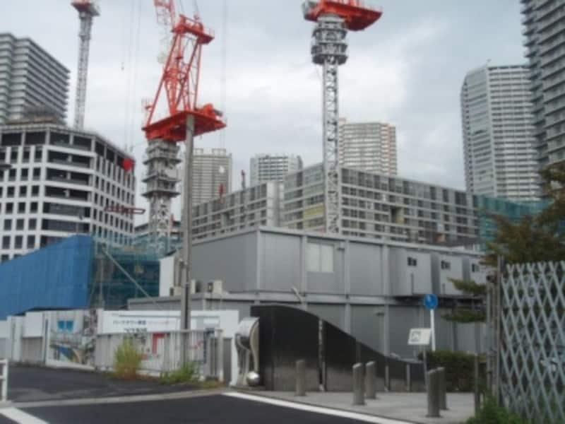 パークタワー東雲の建設現場
