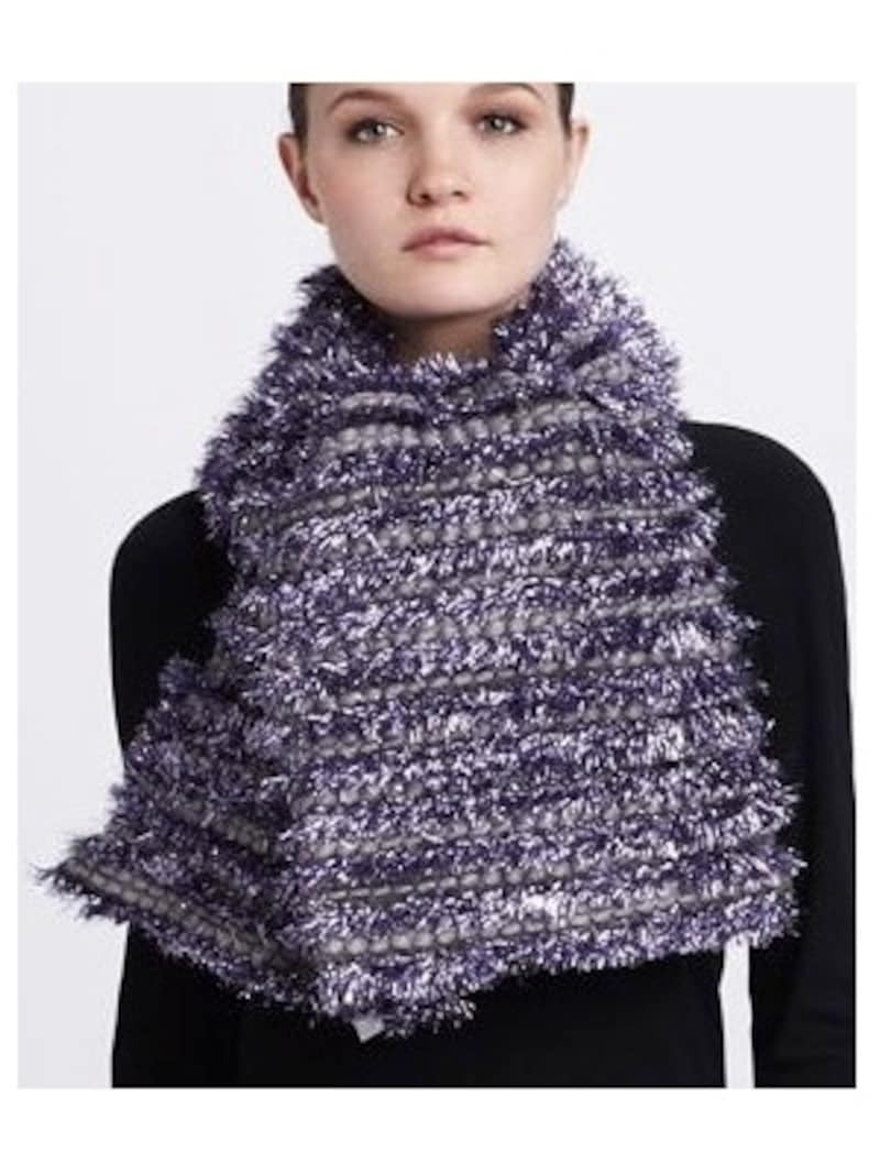 MARC JACOBS(マーク・ジェイコブス)/Tinsel-Striped Tweed Scarf, Lilac