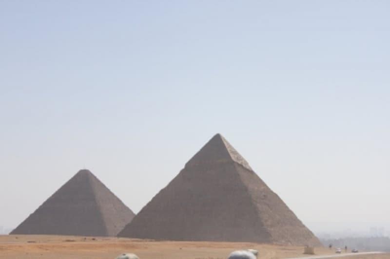 ピラミッド付近のラクダにも注意!