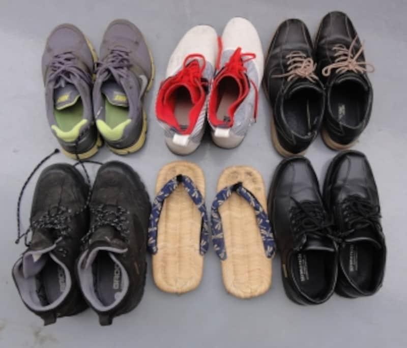 ほとんど履かない、年に1、2回しか履かないものは入ってません。