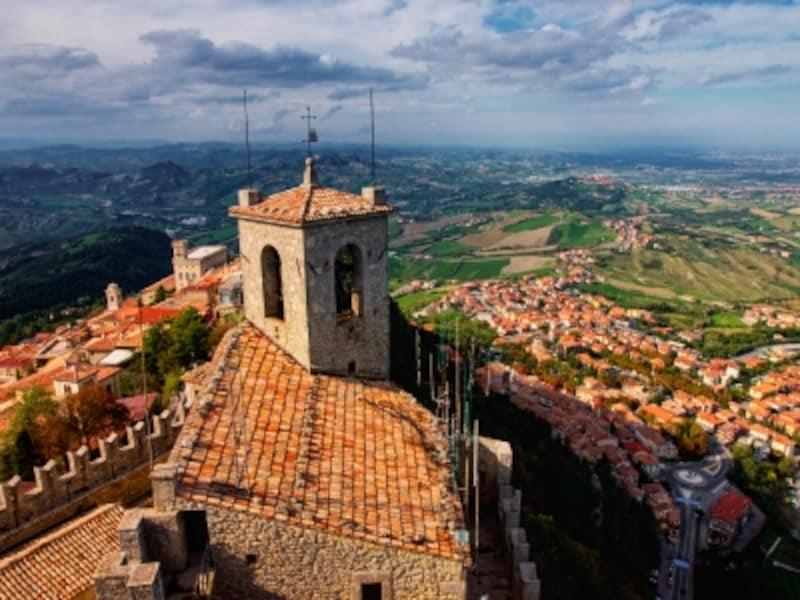 サンマリノの歴史地区とティターノ山