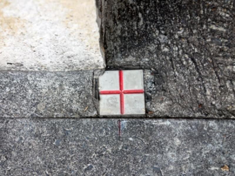 十字の金属標