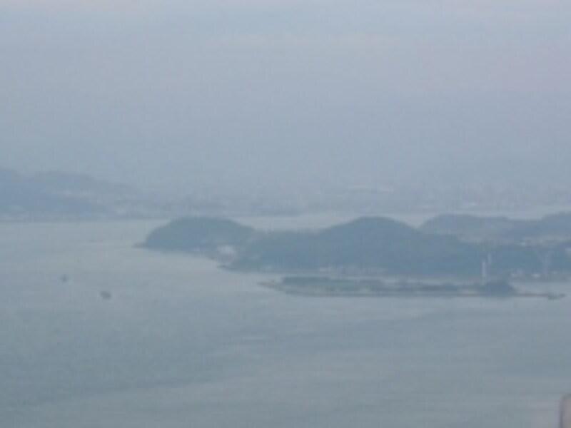 火の山公園展望台からの眺め(2)/巌流島と彦島