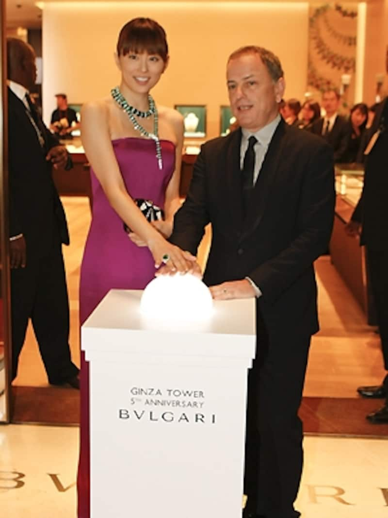 ブルガリ銀座タワー5周年記念「イタリア至高の輝き展」オープニングイベント