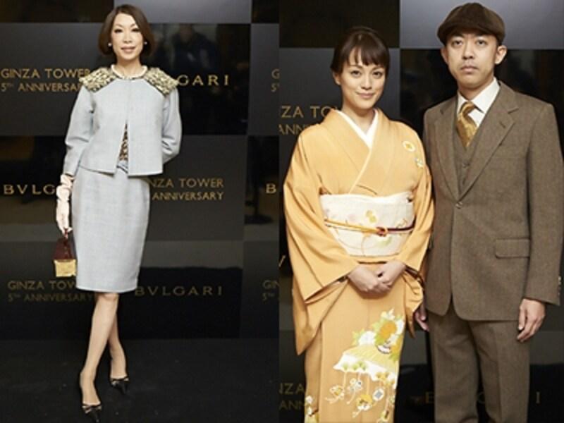 (左から)野宮真貴さん、牧瀬里穂さん、NIGOさん