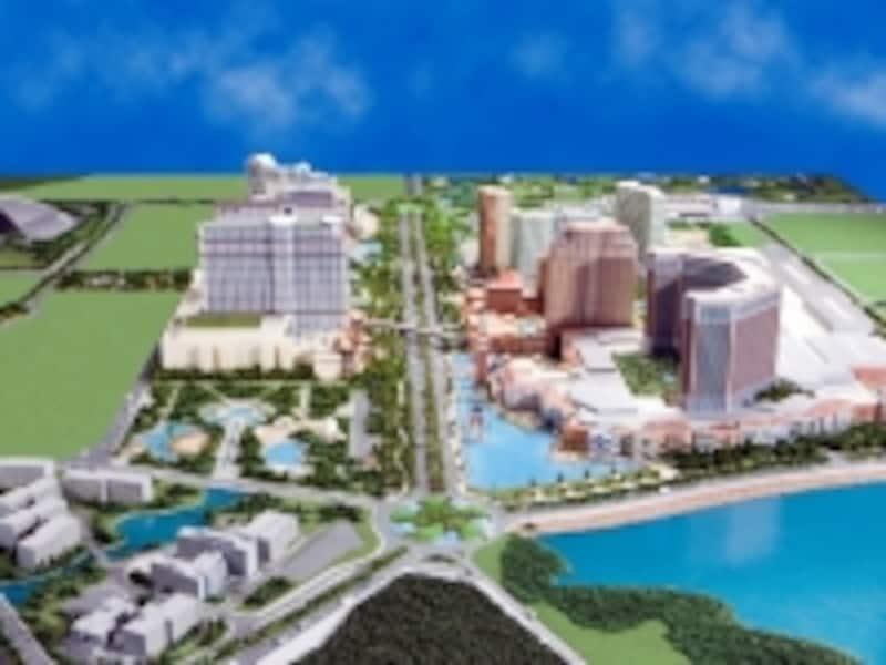 コタイ地区の中心地に開発が進むストリート「コタイストリップ」の完成予想模型(c)TheVenetianMacao