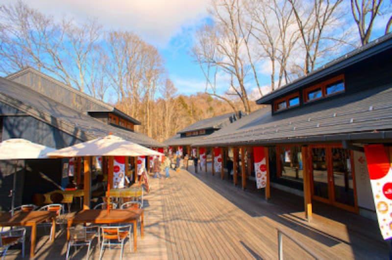 軽井沢で冬ショッピング