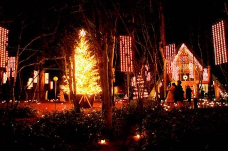 軽井沢高原教会のクリスマスイルミネーション