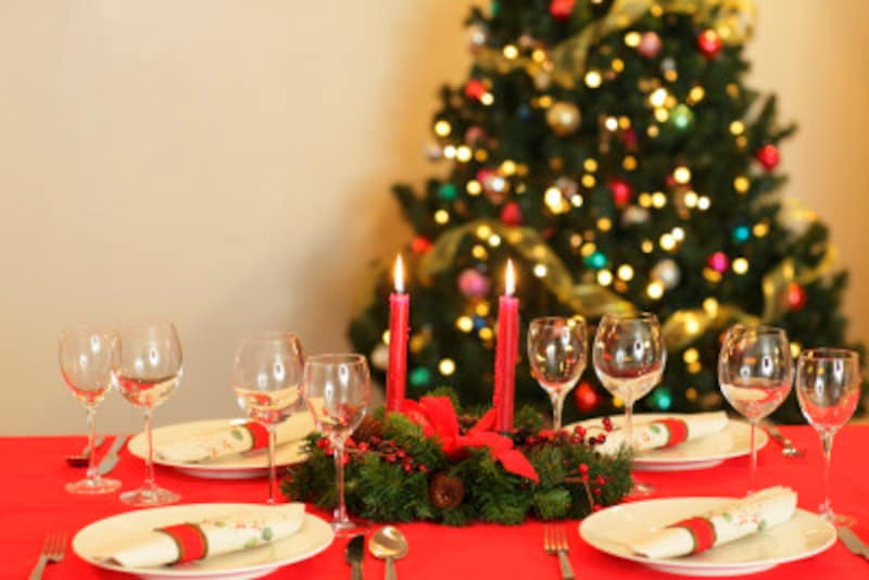 クリスマスのテーブルコーデのポイント