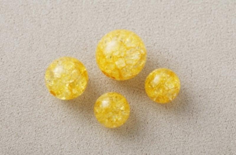 クラック水晶(黄色)