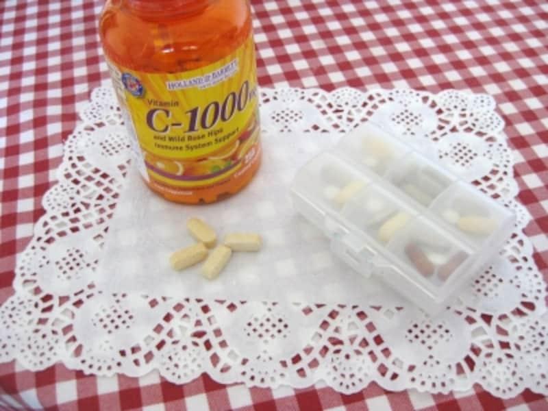 ビタミンCや野菜粒のタブレット