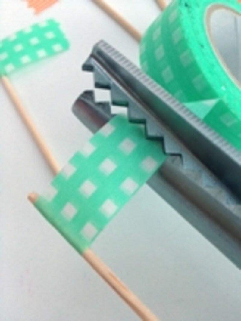 マスキングテープで作るピック