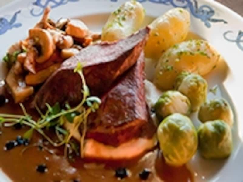 ノルウェーのトナカイ料理