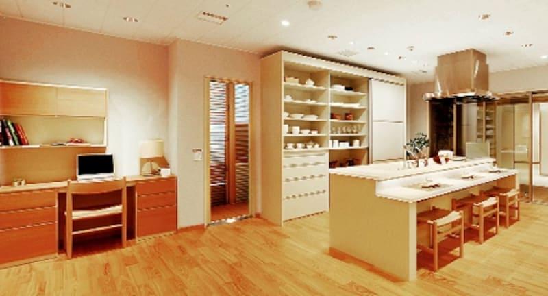 ショールームではキッチンのレイアウトや収納プランも作成してくれる。見積もりも出してくれるのでリフォーム予算の計画が立てやすい。(戸建てリモデルプラン/TDYコラボレーションショールーム)