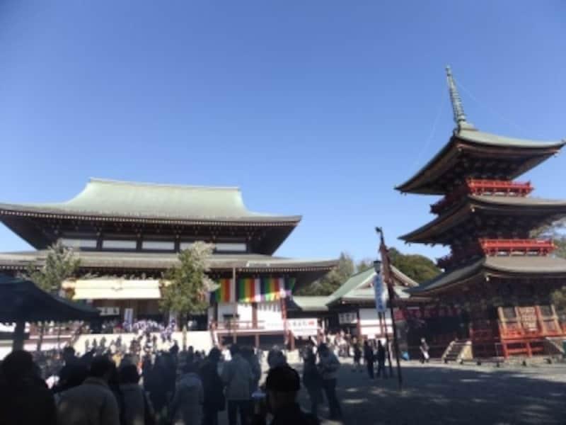 成田山新勝寺・大本堂と三重塔