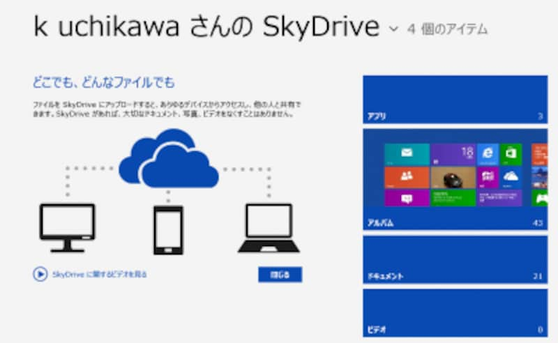 SkyDriveアプリ