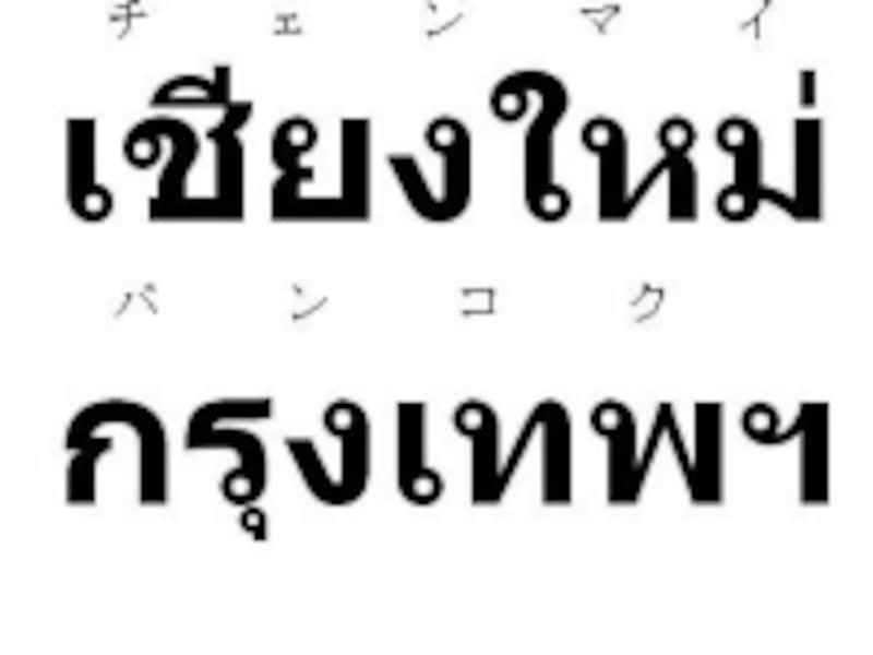 タイ語表記