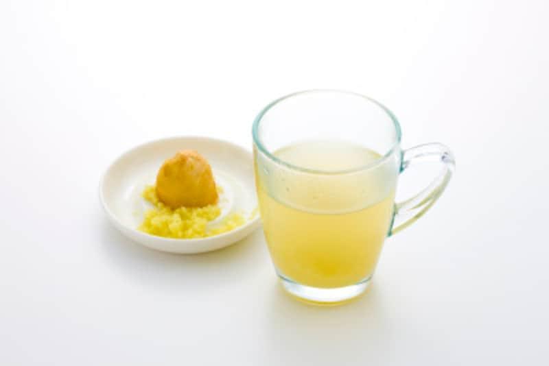生姜湯は体が温まる