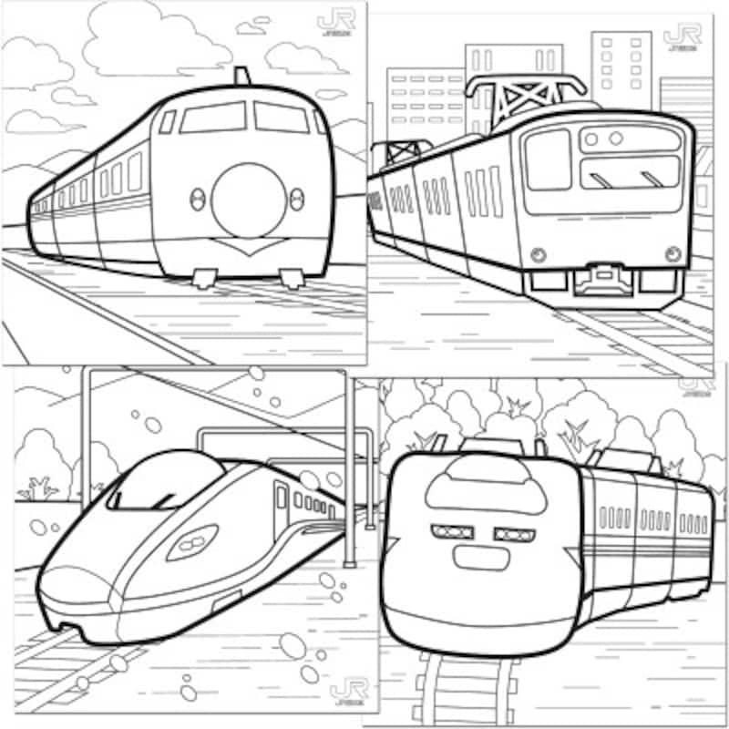 J電車ぬりえ塗り絵無料ダウンロード R西日本鉄道ファンコーナー