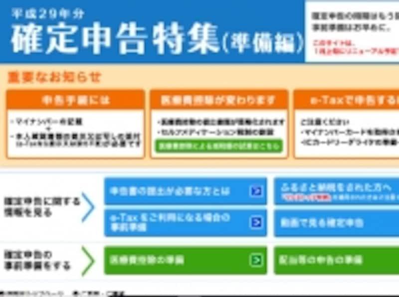 確定申告の受付は2018年2月16日(金)~2018年3月15日(木)
