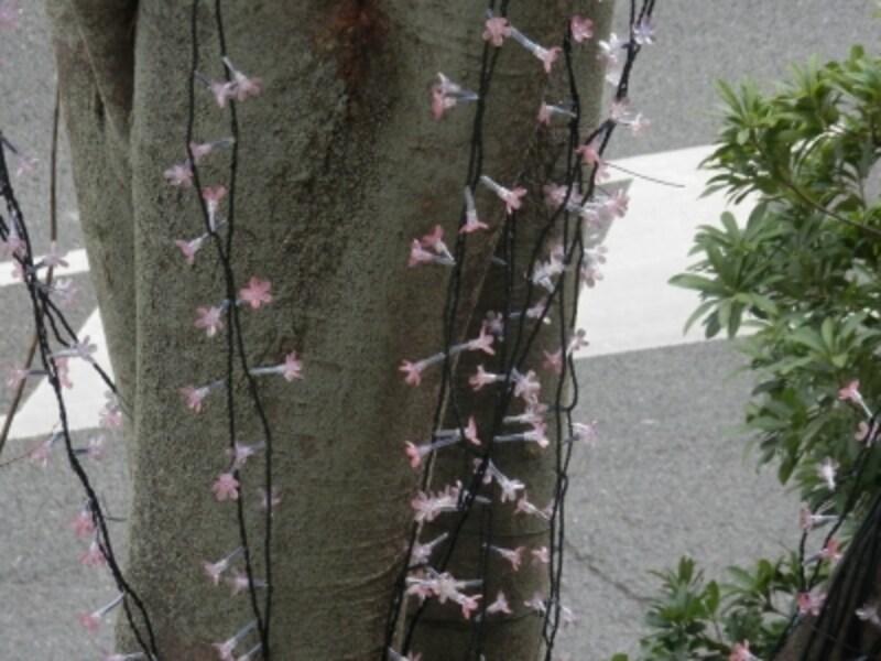 使っているLEDは一つ一つが桜の花びらをモチーフにしたもの