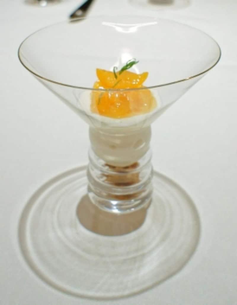 金柑のレアチーズタルト