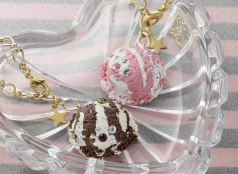 「アイスクリームのバックチャーム」完成写真