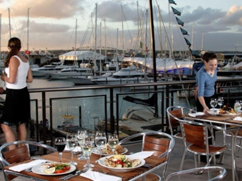 オークランドの海辺のレストランは雰囲気が最高!
