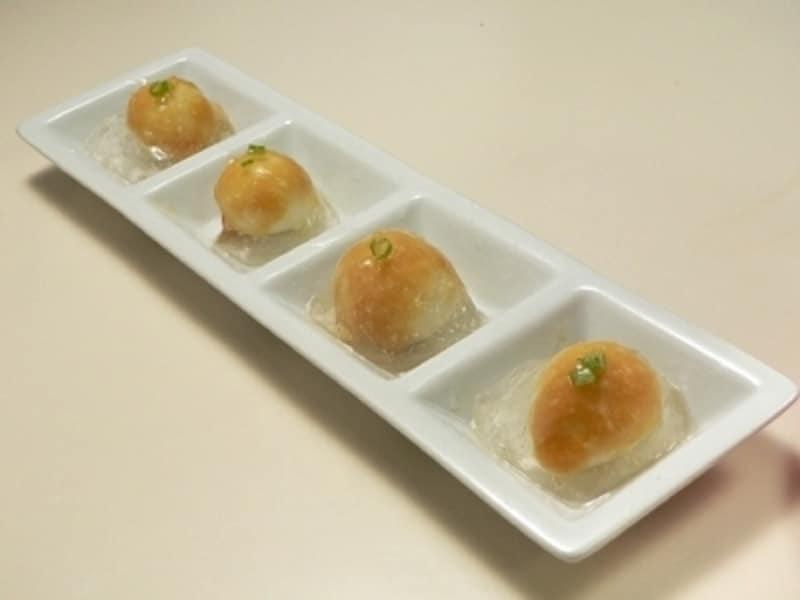 うずらの卵の酢味噌水まんじゅう