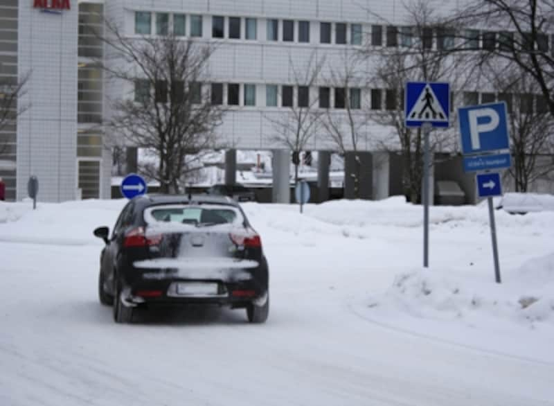 冬の横断歩道