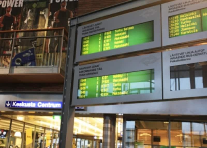 列車の案内板