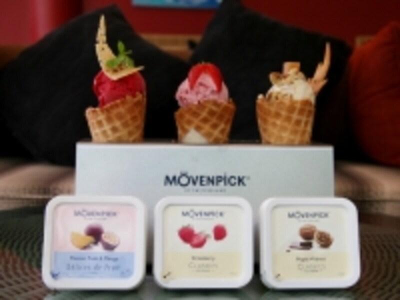 モーベンピックアイスクリーム、お値段はちょっと高めですが、濃厚で美味