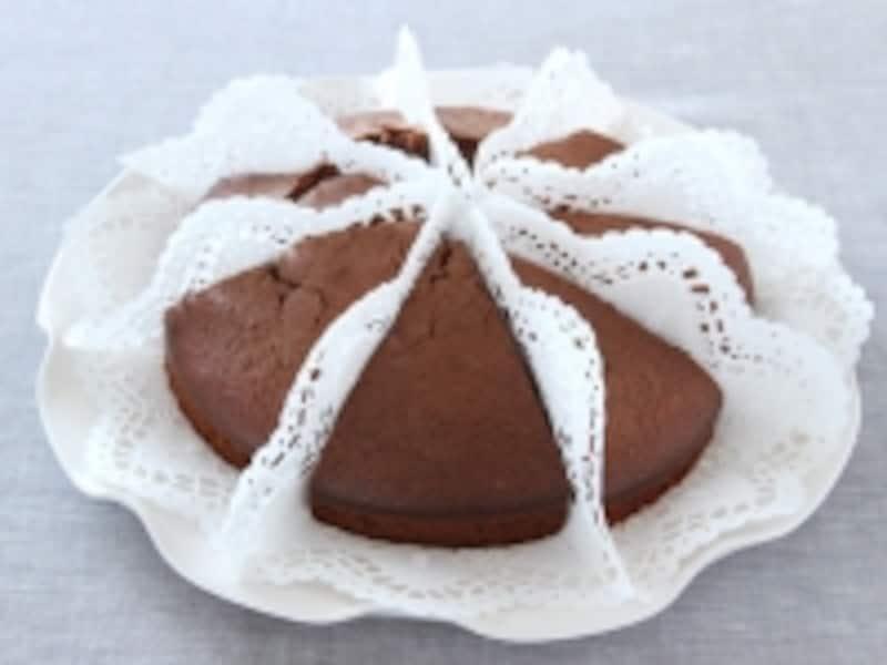 【簡単ラッピング】混ぜるだけの板チョコケーキ