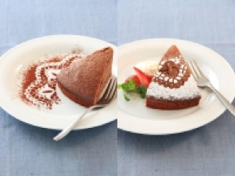 板チョコケーキの簡単フードコーディネート