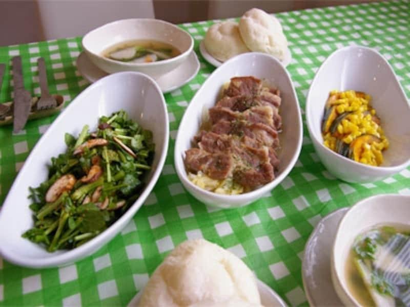 豚肉の白ワイン煮定食