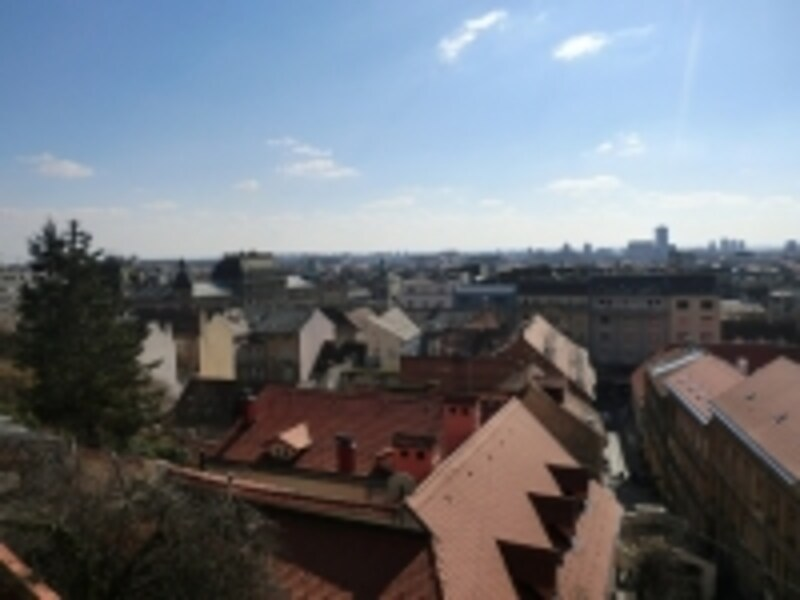 ウスピニャチャ・ケーブルカー乗り場(上)からの景色