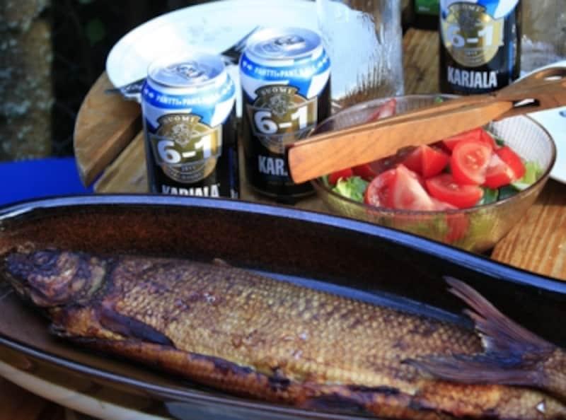 ビールのある食卓