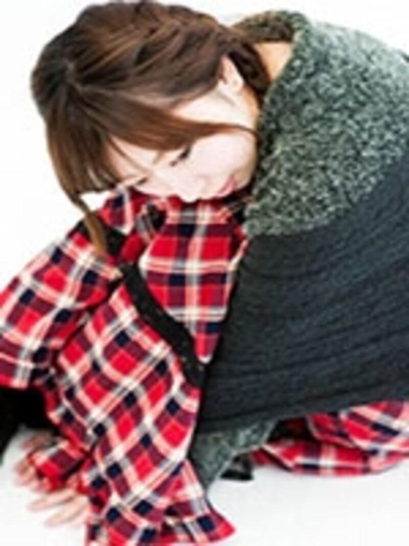"""""""毛布にくるまる女性"""""""