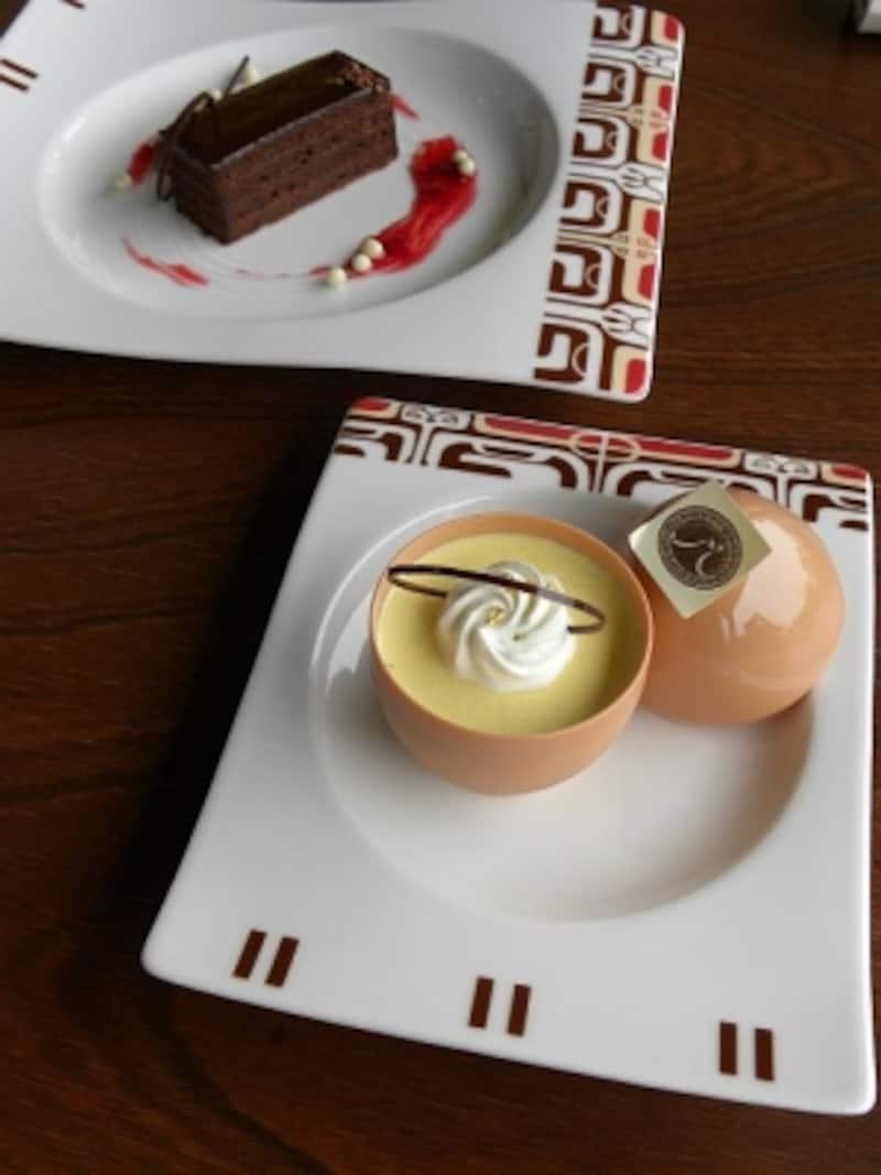 隣の「カフェ・マサグラン」でいただける「洋菓子マウンテン特製ケーキセット」は、ドリンク代+ケーキの種類によりA:+270円、B:+390円、C:+420円から選べる