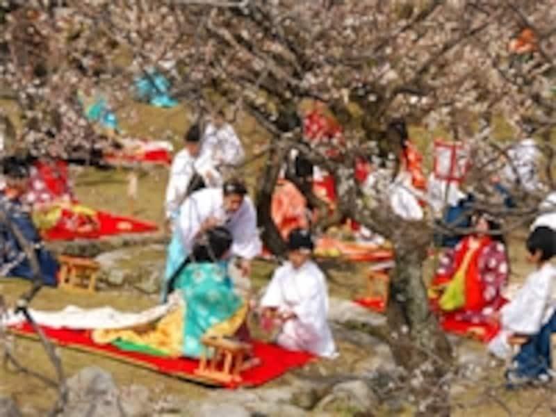 雛祭りイベント 太宰府天満宮「曲水の宴」