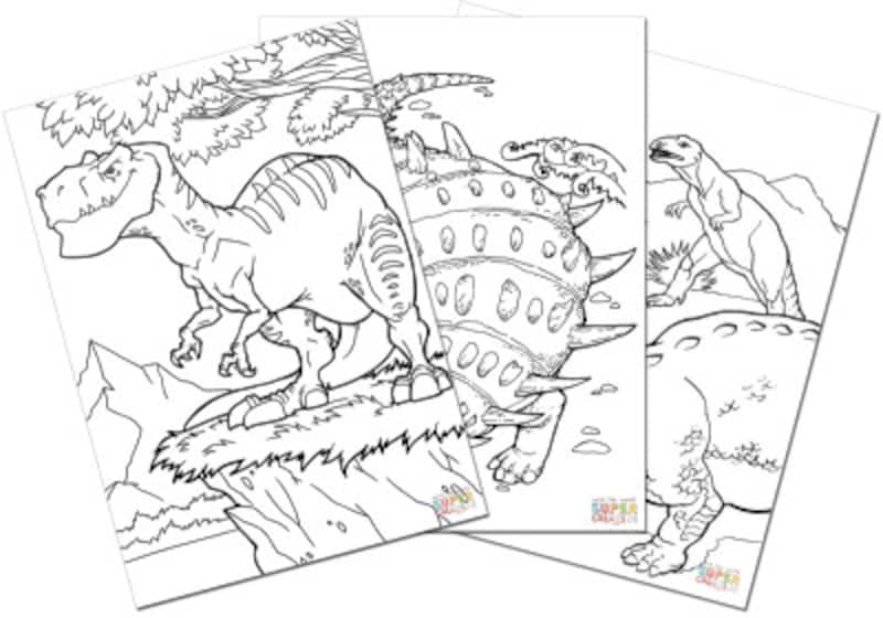 恐竜ぬりえ Supercoloring Dinosaurs coloring pages