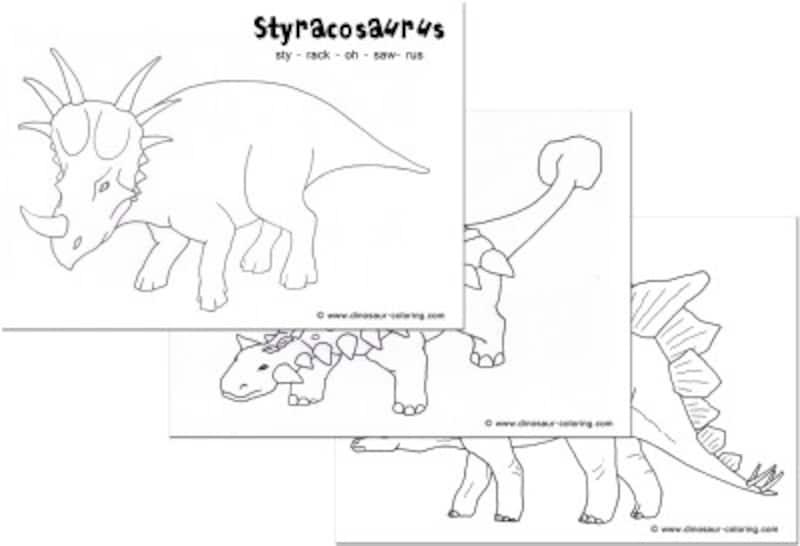 恐竜ぬりえ Dinosaur-Coloring.com