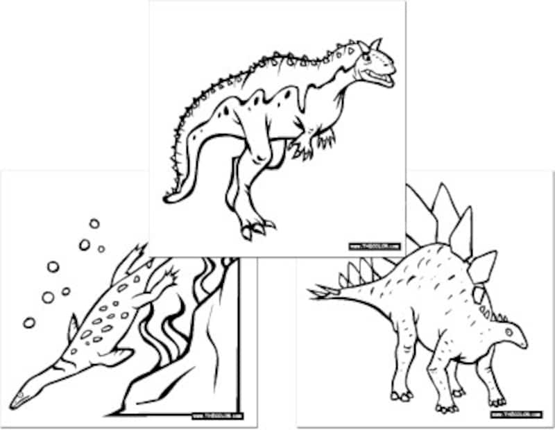 恐竜ぬりえ THE Color.com  Dinosaur Online Coloring Pages
