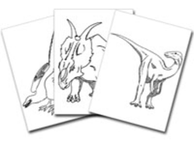 好きな恐竜のぬりえを何度でもダウンロード可能