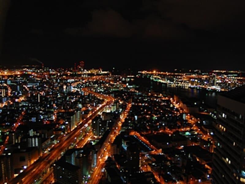 ホテル大阪ベイタワーの夜景