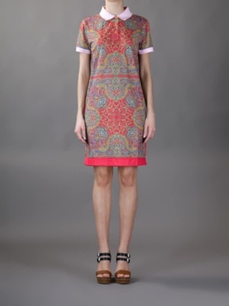 CARVEN(カルヴェン)2013/SPRING/printedpoloshirtdress